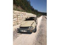 Kastamonu'da yoldan çıkan otomobil takla attı: 2 yaralı