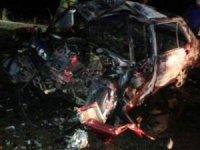 LPG'li otomobil patlayarak araç içinde bulunan 3 kişi feci şekilde hayatını kaybetti.