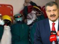 """Fahrettin Koca, """"Şiddetin ihtimali bile olmamalı. Devlet, geçit vermeyecek"""" ifadelerini kullandı."""