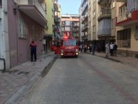 Aydın'da kombiye sıçrayan alevler panik oluşturdu
