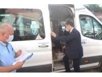 Kaymakam Karadağ, yolcu otobüslerini denetledi