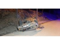 Mıcırlı yolda otomobil takla attı: 1 yaralı