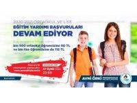 Lise ve ortaokul öğrencilerine eğitim yardımı