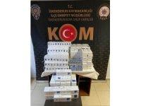 Tırdan bin 740 paket kaçak sigara çıktı