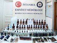 Beyoğlu'nda kaçak alkol operasyonu