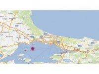 """İstanbul Valiliği: """"AFAD Başkanlığından alınan bilgiye göre saat 16.38 Marmara Denizi'nde Tekirdağ'ın Marmaraereğlisi ilçesi açıklarında 4,2 büyüklüğünde bir deprem meydana gelmiştir. Deprem İstanbul'da da hissedilmişti"""