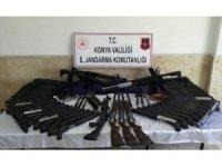 Konya'da kaçak silah operasyonu