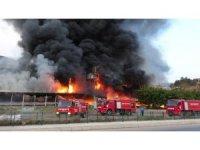 Tokat'ta korkutan AVM yangını