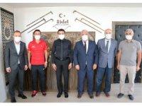 Ampute futbol teknik heyetinden Kaymakam Dağ'a ziyaret