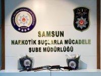 Samsun'da 1 kilo 398 gram esrar ele geçirildi