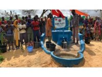 Başkan Vergili ve iş adamlarının katkılarıyla Afrika'da su kuyusu açtırıldı