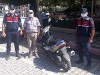 Hırsızlık şüphelisi, çaldığı motosikletle yakalandı