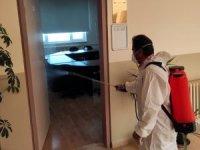 Van Büyükşehir Belediyesi YDS öncesi okulları dezenfekte etti