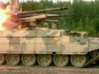 Rusya Başkanı Vladimir Putin, yeni nesil Terminatör tank destek araçları hakkında bilgi aldı.