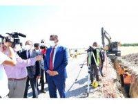 Başkan Gürkan, kanalizasyon çalışmalarını yerinde inceledi