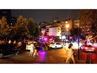 Şişli'de bir kişiyi gözaltına alan polis ekiplerine balkondan ateş açıldı