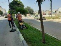 Kilis'te caddelere son bahar bakımı