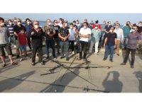 Samsun'da amatör olta balıkçılarından eylem
