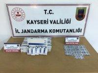 Jandarma sentetik hap ve kaçak sigara yakaladı