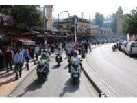 Şanlıurfa'da yüzlerce bisikletli sağlık için pedal çevirdi