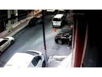 Şişli'de yaşanan patlama kamerada