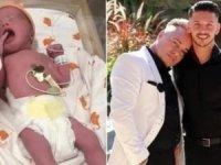 Eşcinsel çift, Valentina adlı kız çocuklarını önceki gün kucaklarına aldı