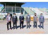 Erciş Şehir Stadyumunun çimleri yenileniyor