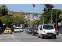 Samsun'da trafiğe kaydı yapılan her 2 araçtan 1'i beyaz renk