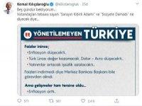 Kılıçdaroğlu; Herhalde 'Nobel Ekonomi Ödülünü' kaçırdılar diye (!) kahroluyorlar!