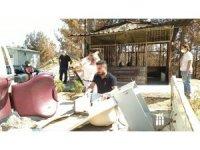 Yangın mağduru berbere meslektaşlarından destek