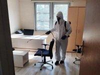 Akçakale'de kamu kurumları dezenfekte edildi