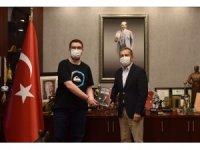 Başkan Ataç'tan başarılı öğrenciye tebrik