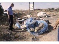 Gebze'de boş alana kaçak atık döken firmaya ceza kesildi