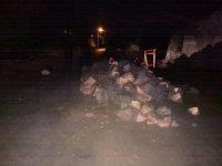 Yol kenarındaki taş yığınlarına çarpan motosiklet sürücüsünden acı haber