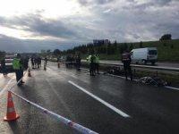 İşe giden motosikletli kazada hayatını kaybetti