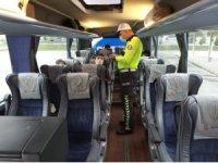 Bozüyük'te trafik polislerinden karayolunda Covid-19 denetimi