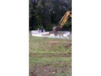 Pendik'teki Kurtdoğmuş köyü'nde mezarlıklar İBB tarafından yıkıldı