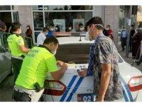 Kahta'da polis ekiplerinden maske denetimi