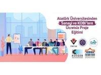 Atatürk Üniversitesinden Sanayi ve Kobi'lere Ücretsiz Proje Eğitimi