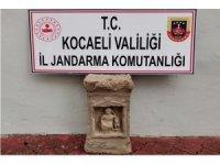 Kocaeli'de Roma dönemine ait Kybele sunağı ele geçirildi