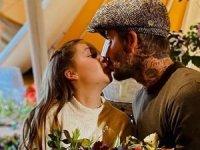 Beckham'dan kızına sosyal medyayı ikiye bölen öpücük