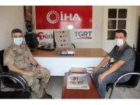 Jandarma Komutanı Albay Yeşilyurt'tan İHA'ya ziyaret