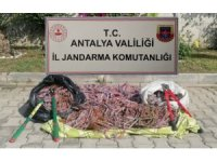 Antalya'da kablo hırsızlığı: 6 şüpheli yakalandı