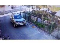 Dalgın sürücü çocuğun önündeki bisikleti ezerek yoluna devam etti