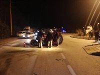 Karabük'te traktör ve otomobil çarpıştı