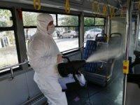Ataşehir'de Özel Halk Otobüsleri korona virüse karşı dezenfekte edildi