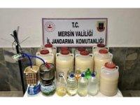 Mersin'de 290 litre sahte alkol ele geçirildi