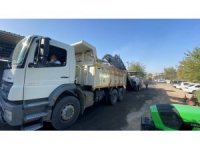 Oto Galericiler Sitesinde asfalt öncesi hazırlık çalışması