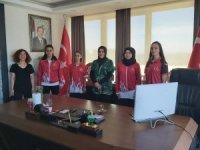 Dürdane Beyoğlu kadın milli sporcularla buluştu