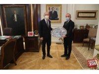 İl Başkanı Karabıyık, İçişleri Bakanı Soylu'yu makamında ziyaret etti